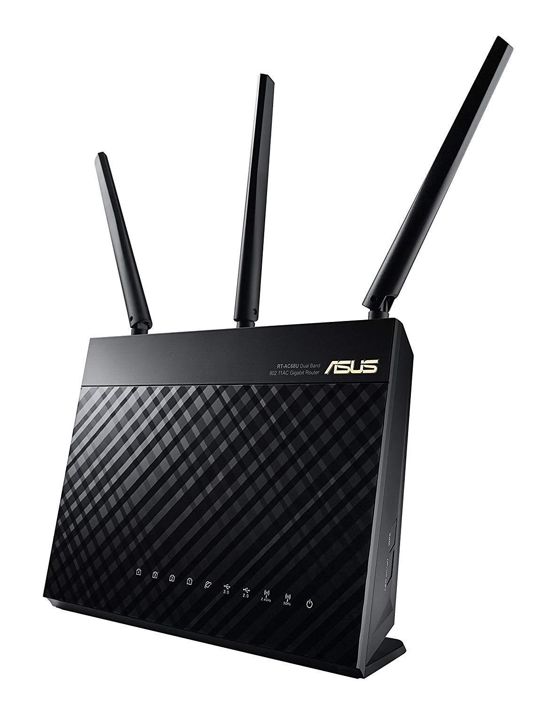 ASUS-enrutador RT-AC68U de doble banda, enrutador WiFi AiMesh, AC1900, 1900 Mbps, AC1900