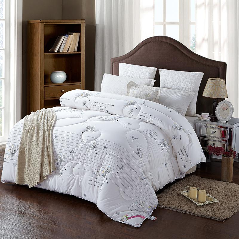43 عالية الجودة 100% القطن ملء أبيض اللون المعزي طقم سرير لحاف الشتاء سميكة رمي بطانية حاف
