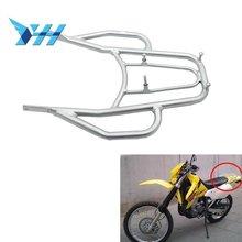 Estante desmontable para equipaje trasero de motocicleta DRZ400 para Suzuki DRZ 400 E S SM DRZ400E DRZ400S DRZ400SM plateado