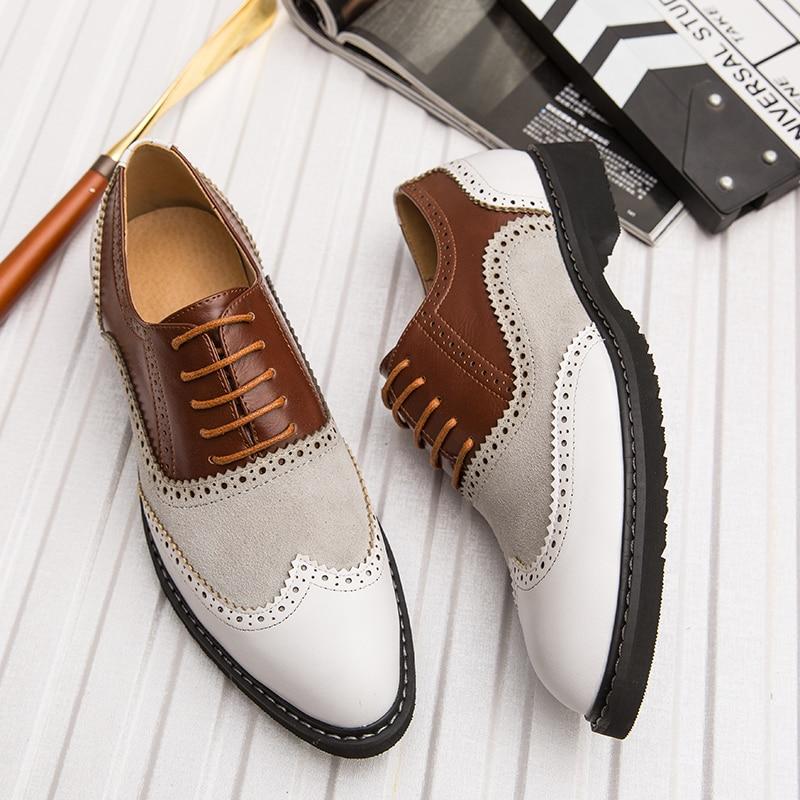 2019 Classic Business Mens Dress Shoes Fashion Elegant Formal Wedding Shoes Men Slip On Office Oxford Shoes For Men Big Size 46