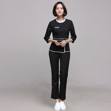Beauty Salon Work Clothes Spa Health Club Set Women  Uniforme Massagista Waitress Clothing
