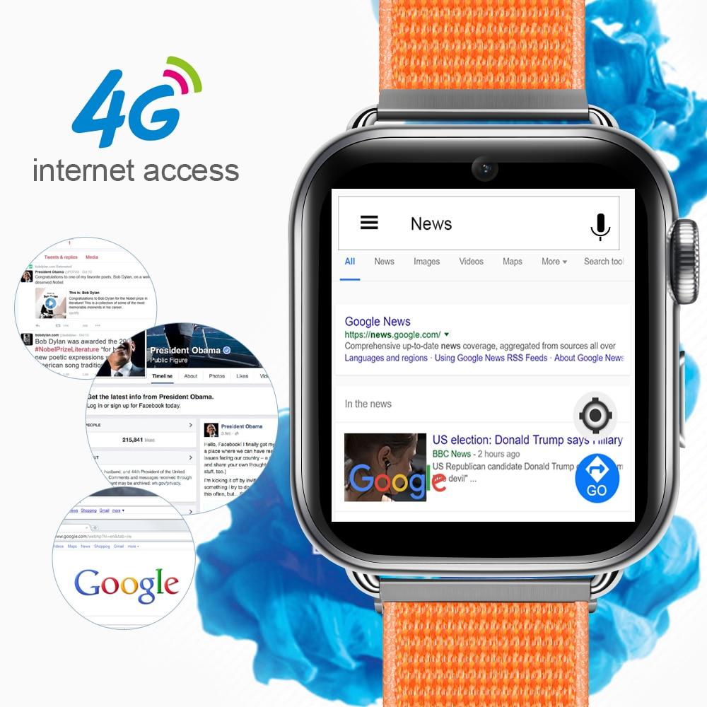 4G Smart Watch Android 7.1 1.88 Inch 360*320 Screen 3GB + 32GB GPS WIFI 780mah Big Battery Smartwatch Phone