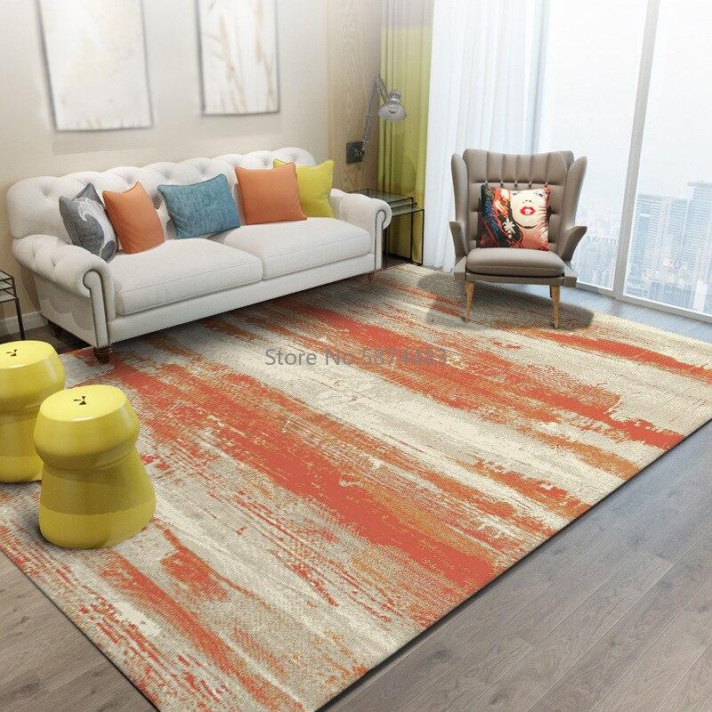 200*300 سنتيمتر الحديثة الحد الأدنى مجردة المائية ضوء أصفر برتقالي نوم غرفة المعيشة سجادة باب حصيرة السرير عدم الانزلاق