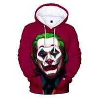 2021 anime red music clown joker hoodie men playing cards mask hoodies sweatshirts plus size 3d tie dyeing sueter masculino 4xl