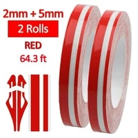 2pcs 1 2  9 8M Pin Striping Stripe Vinyl Tape Decal Sticker Car Motorcycles Red Stripe Stickers
