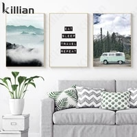 green scenery vegetation building castle art canvas painting print poster natural scenery photo home bedroom decoration