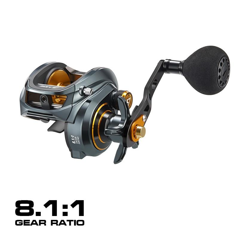 Low Profile Baitcasting Reel 15KG Max Drag 8+1 Bearings Aluminum Frame Freshwater Saltwater Fishing Reel enlarge