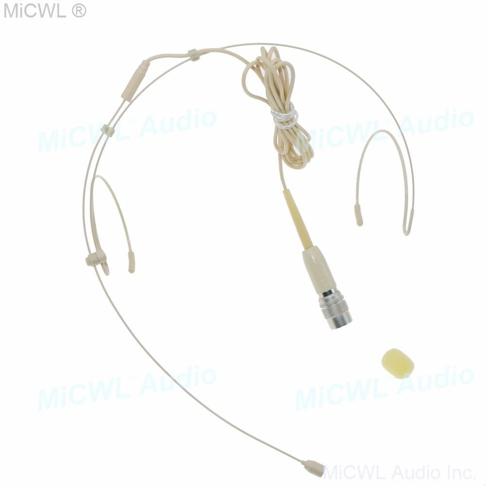 MiCWL B40 Beige ear hook Headset Microphone for Sennheiser Shure AKG Samson Audio-Technica MiPro Wireless many plug for choice