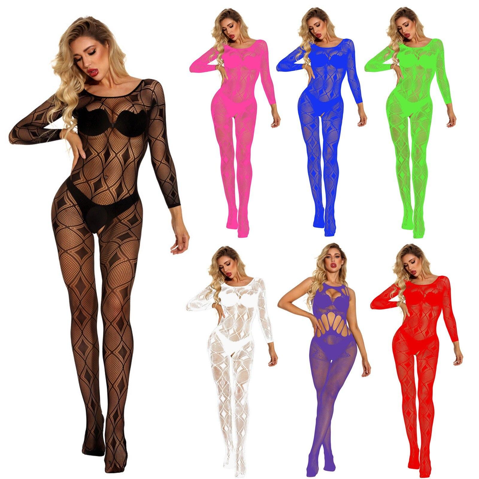 Plus Size Porno Lenceria Women Sleepwear Mesh Babydoll Open Crotch Lingerie Sexy Hot Erotic Costumes