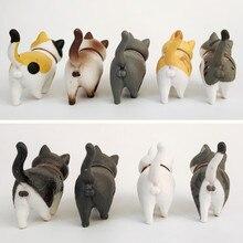 1Pcs Cute Mini PVC Animal Miniatures Japanese Bell Cat Doll Figures Toy Creative Handicraft Ornaments Home Decoration Crafts