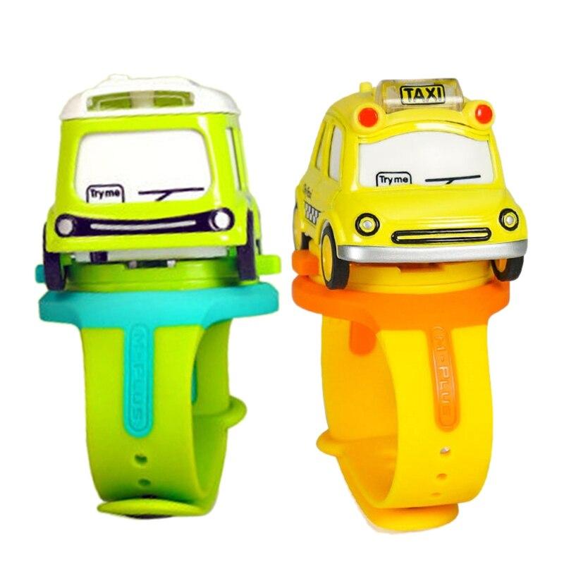 Alloy Toy Car Mini Q Version Car Bus Children Watch Interactive Induction Children'S Toy