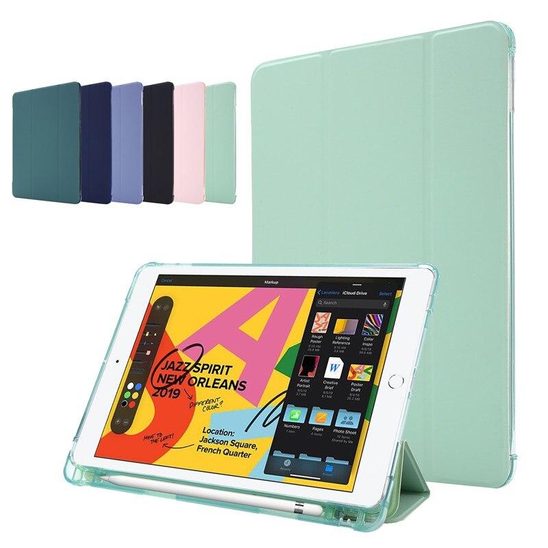 Funda de silicona suave inteligente Para iPad Air 2020, Funda con Portalápices...
