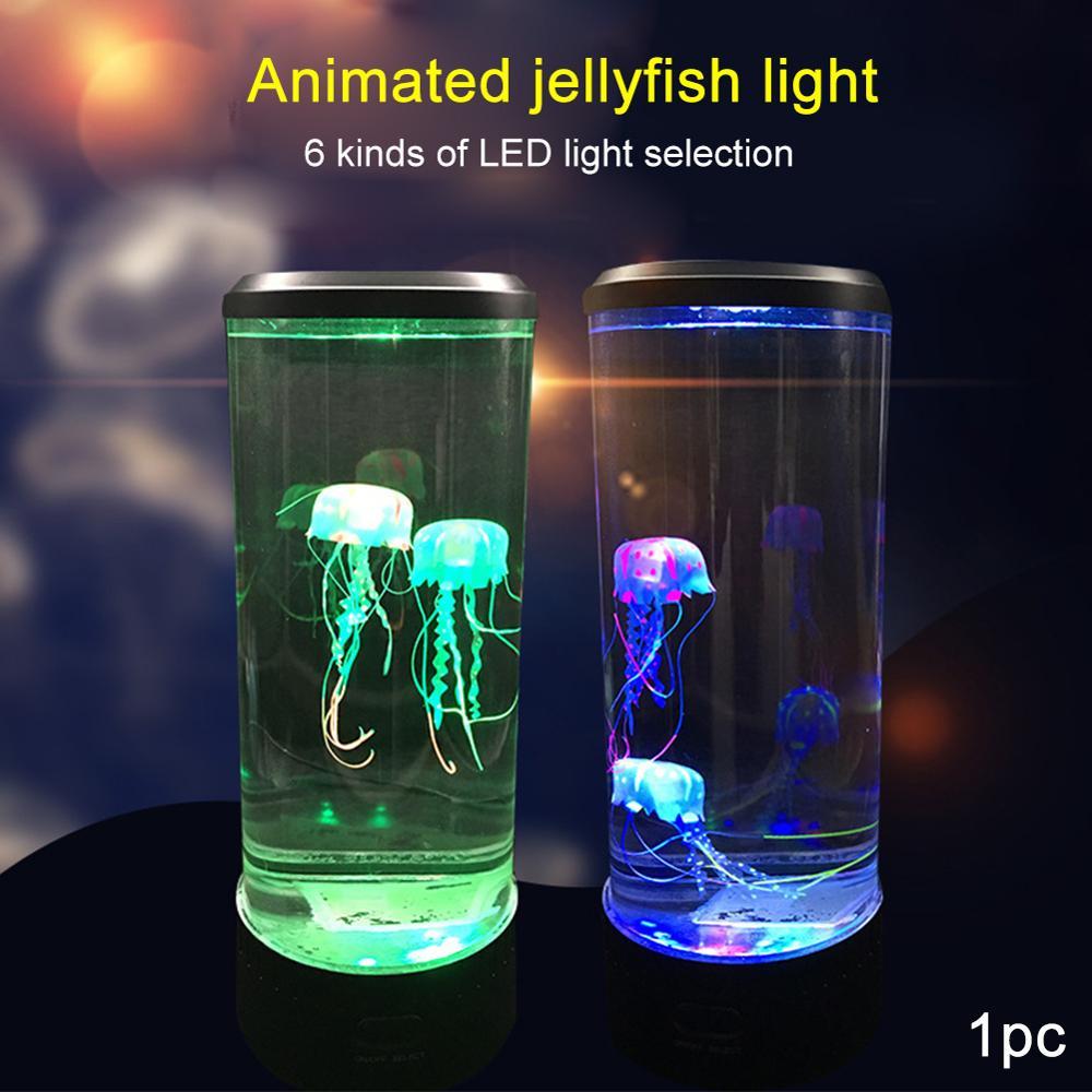 مصباح Led على شكل قنديل البحر مع USB ، RGB ، مثالي لغرفة النوم أو طاولة بجانب السرير ، أو كهدية للأطفال ، أو كهدية.