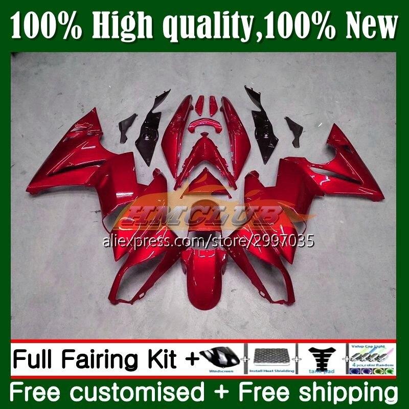 الجسم لكاواساكي 650R إيه 6 F 650 R ER6 F 09 هيكل السيارة 5No.44 ER6F 09 10 11 650-R ER-6F إيه 6F 2009 2010 2011 هدية معدن الأحمر