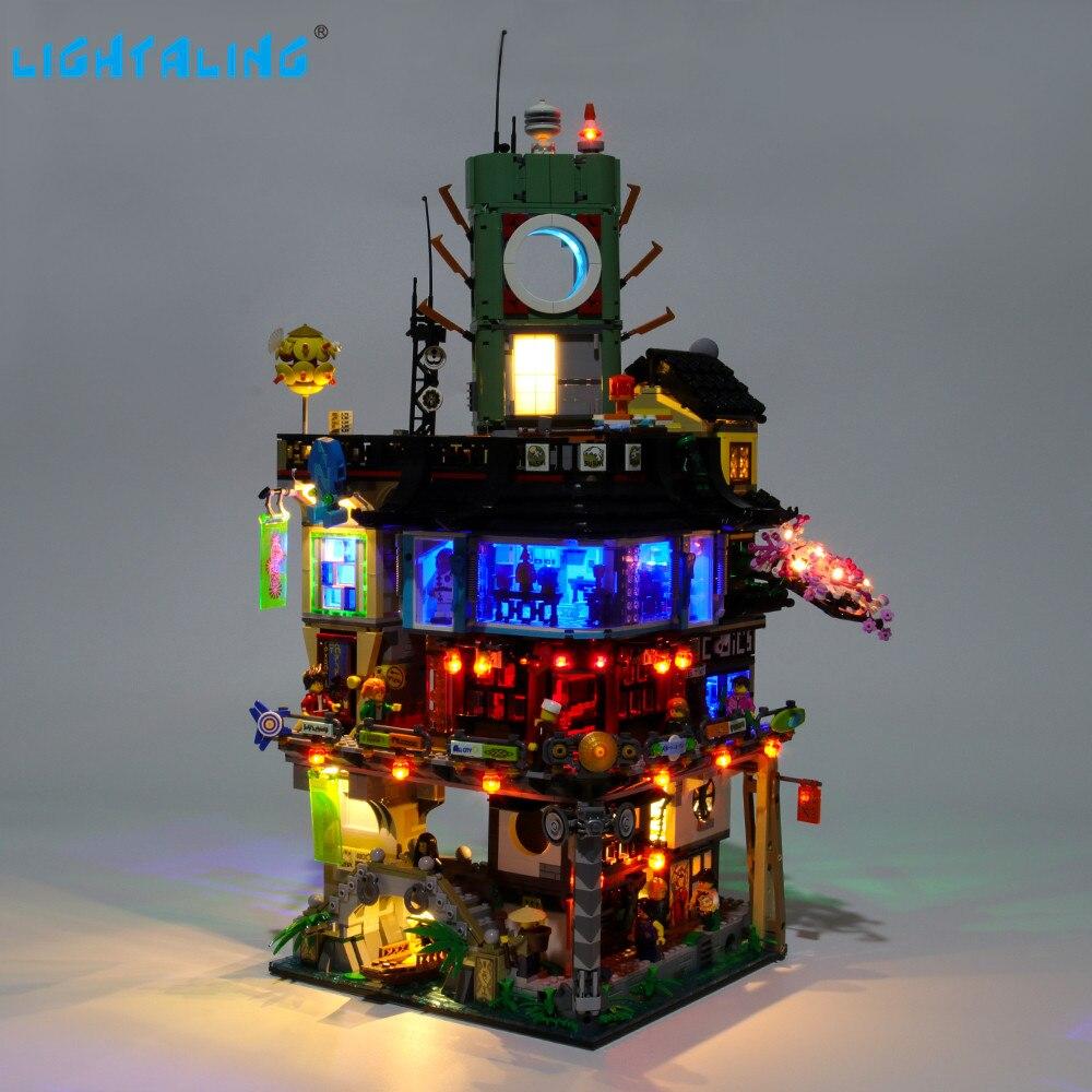 Lightaling kit de luz led para blocos de construção da cidade ninja compatível compatível com 70620 06066 (iluminação definida apenas)