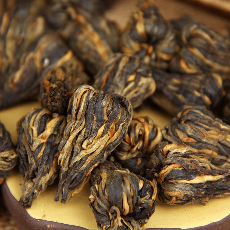China Yunnan Fengqing Dian Hong Premium pequeño brote de Torre Roja DianHong té negro belleza adelgazamiento comida verde para la salud perder peso