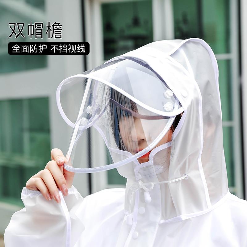 Clear Jacket Long Transparent Womens Raincoat Motorcycle Waterproof Suit Raincoat Plastic Acrylic Rain Drops Universal Hiking enlarge