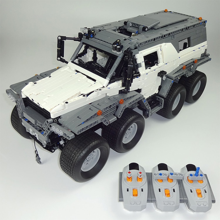 23011 Technic Off-road Vehicle Avtoros Shaman 8x8 Building Block Fit MOC-5360 with Electric Motors Power Functions Brick