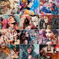 5d diy girlanimals portrait painting cross stitch kit rhinestones pictures full display diamond embroidery house decor gifts