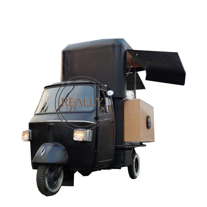 Motocicleta con carrito de comida eléctrica de 35 km/h y 3m, triciclo móvil para comida, remolque para barbacoa, camión expendedor de crema, con aprobación CE