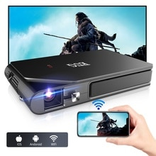 Mini  Portable Pocket  Projector for Outdoor Movies Small DLP  HD Video Home Theater Rechargeable Ba