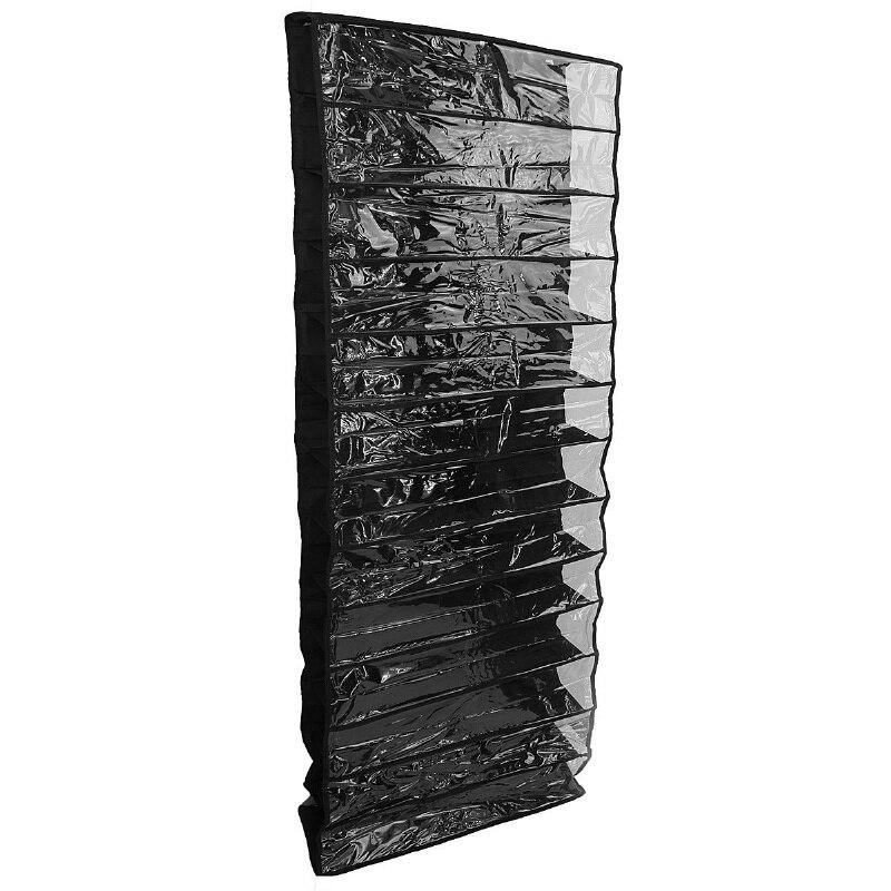 26 Pairs Over Door Hanging Stand Shoe Rack Shelf Storage Organiser Pocket Holder black