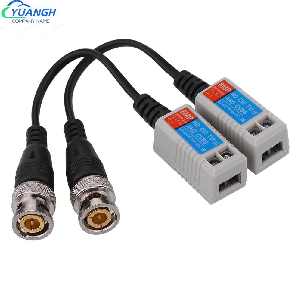 10 Pairs 8MP Transmission Cable Spliced Twisted Passive Video Balun Transceiver Adapter For HD-CVI/AHD/TVI Camera enlarge