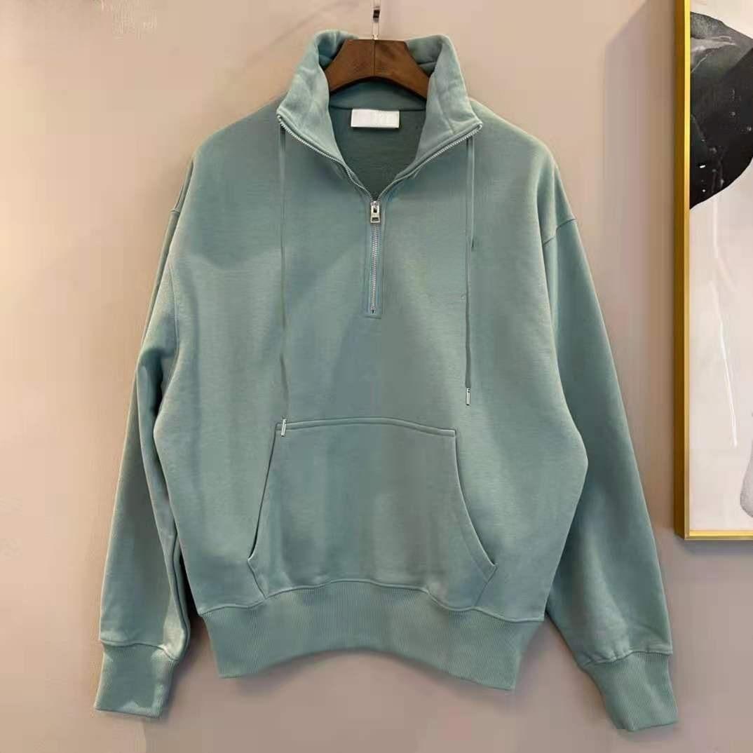 Women's 2021 New Style Sweater Sportswear Men's Sweater High Quality Pure Cotton Large Size Fashion Zipper Sweatshirt XS-L