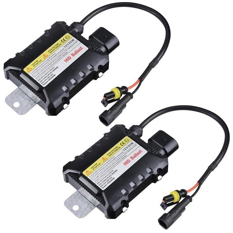 2шт 12В Hid Xenon балласт 35 Вт/55 Вт Цифровой Тонкий Балласт электронный зажигания для H1 H3 H3C H4-1 H4-2 H7 H8 9005 9006