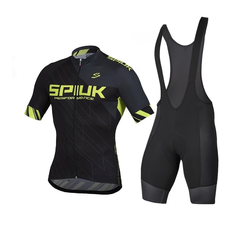 SPIUKful-Conjunto de Jersey de Ciclismo para Hombre, equipo de manga corta para...