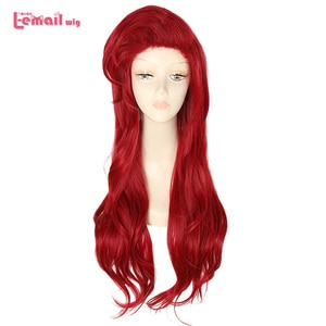 L-email wig 70cm Long Wavy Cosplay Wigs Red Wigs for Women Synthetic Hair Halloween Cosplay Wig