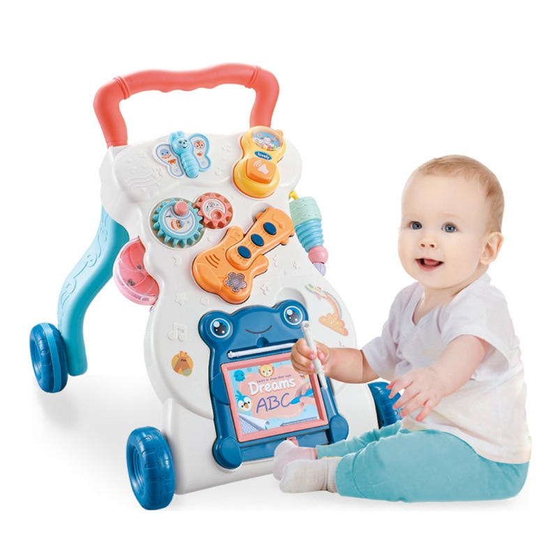 Infant Baby Learning Walker Toys Sit To Stand with Wheel and Activity Center Multifunction Stroller Boys Girl Toddler Car No box