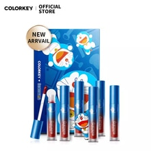 Colorkey × Doraemon New 6 Colors Mini Lip Glaze Gloss Gift Set Liquid Lipstick Waterproof Long-last