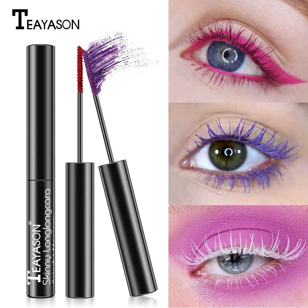 Waterproof White Mascara  Curling Long And Dense Color Mascara Eyes Makeup Lengthens Eye Lash Black Volume Mascara Eye Cosmetics