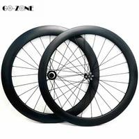 carbon disc wheels 50x26mm clincher or tubular road bike wheel powerway cx32 100x15 142x12 road bike 700c wheelset pillar 1423
