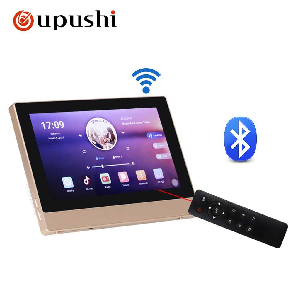 Oupushi Intelligent Touch Screen Good Sound Quality Family Background Music Host System Amplifier with Speakers