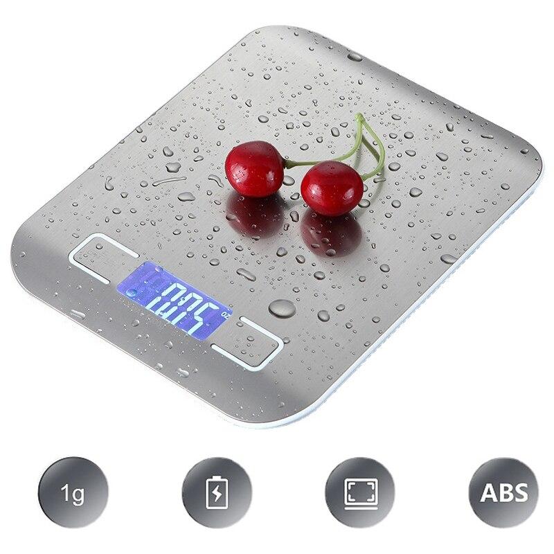 Электронные кухонные весы, измерительный инструмент, весы для еды, тонкие цифровые электронные весы с ЖК-дисплеем, бытовые весы