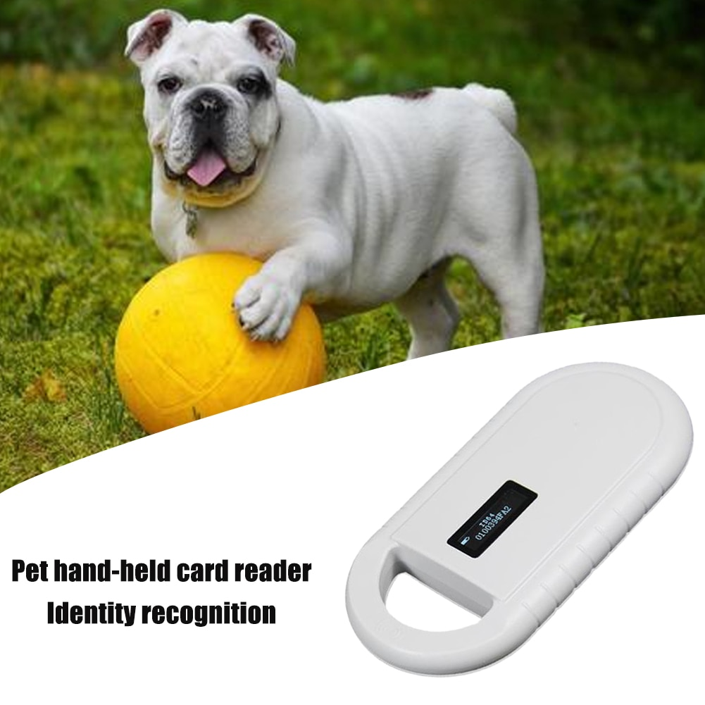 Escáner portátil de identificación para mascotas, lector de chips de animales, lector de chips para perro, gato, USB, FDX-B de Microchip recargable, pantalla OLED decodificador de 134,2 Khz