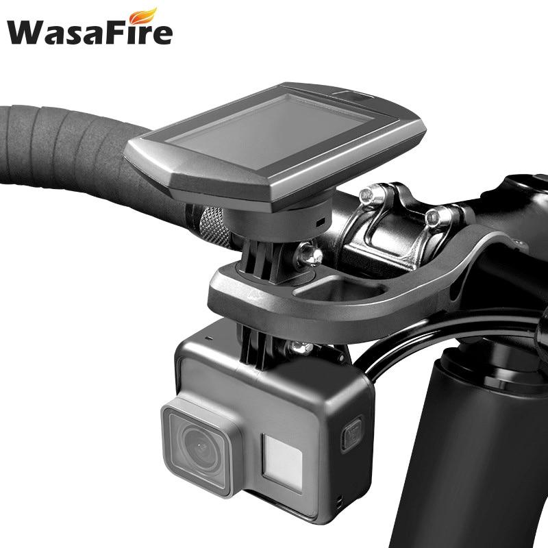 Bike Computer Holder Bike Stem Extension Mount Road Mountain Bike Handlebar Support  for Garmin Camera GoPro Cycling Light