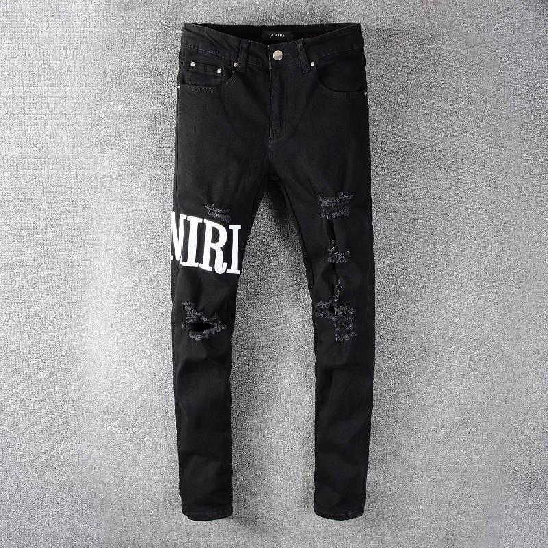 تصميم جديد لعام 2021 بنطال جينز أميري من الجينز ذو ثقوب ، بنطال جينز ممزق للرجال من HOMME ، بنطلون جينز كول غي 649