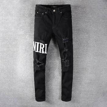 2021 New Designer Amiri Denim Jeans Holes Trousers Pants Biker Jeans HOMME Ripped Jeans COOLGUY Jeans Men Pants 649