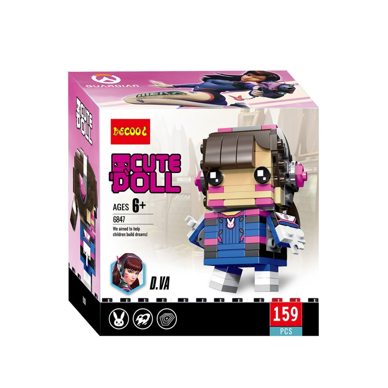 Bloques de construcción overwatch Hanzo Pharan Reinharot Mini ladrillos Anime modelo Headz bloques Linda muñeca para niños juguetes 6847