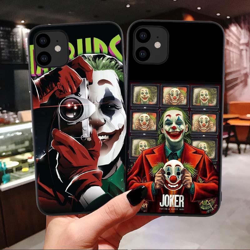 Joker 2019 Joaquin Phoenix suave de silicona negro Funda de teléfono para iPhone 11 pro Max 6s 7 8 plus X Xs XR MAX película de terror cubierta