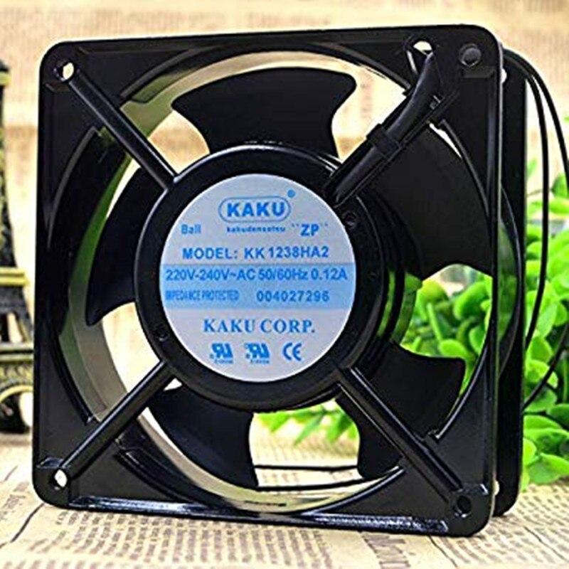 KK1238HA2 220V 0.12a 12038 محوري مروحة 12 سنتيمتر التبريد مروحة 6 أشهر الضمان