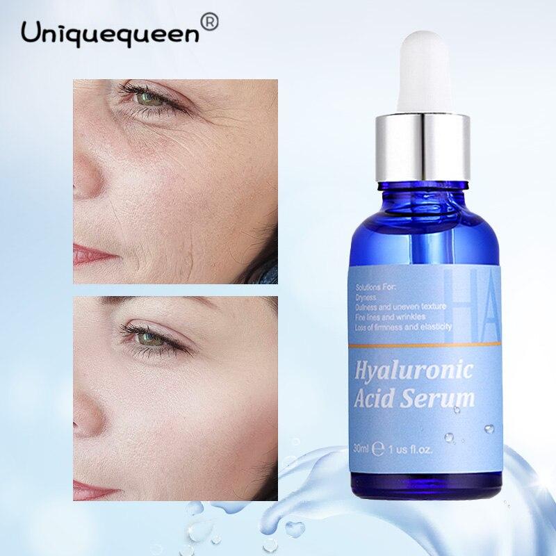 Hyaluronic Acid Face Serum Anti-Aging Shrink Pore Whitening Moisturizing Essence Face Cream Dry Skin Care 30ml недорого