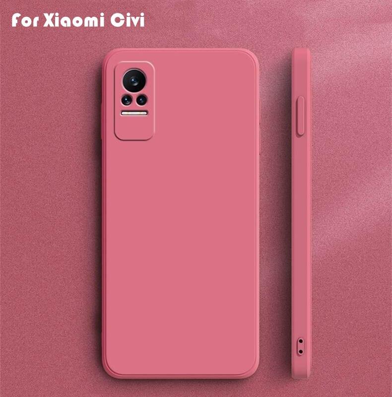 For Xiaomi Civi Case Cover For Xiaomi Mi Civi 11T Pro 11 Lite Coque Original Liquid Silicone Soft Ph