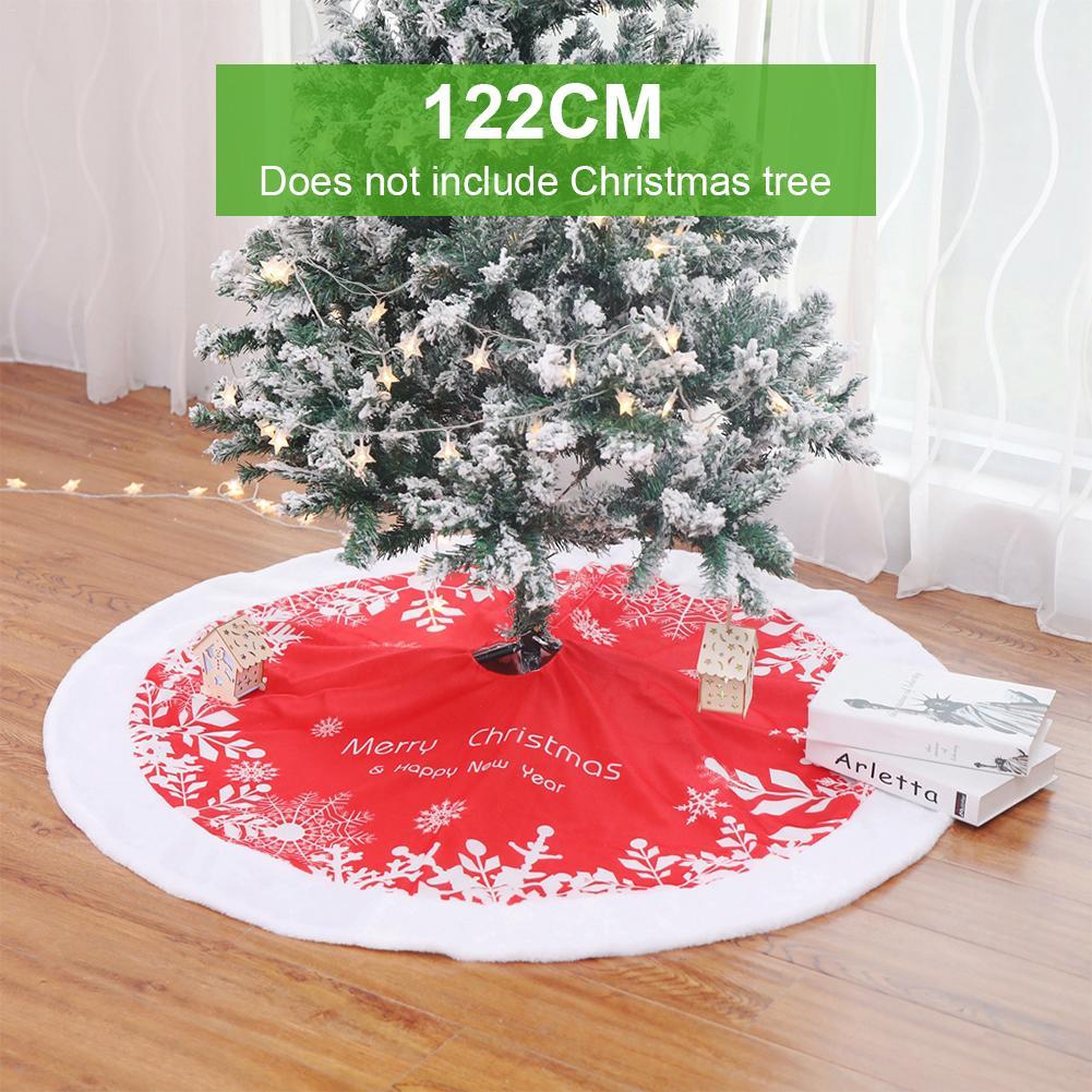 Falda de árbol de Navidad suave almohadilla de felpa faldas de árbol de Navidad alfombra de piel Feliz Navidad decoración búfalo plaid para el ornamento del hogar