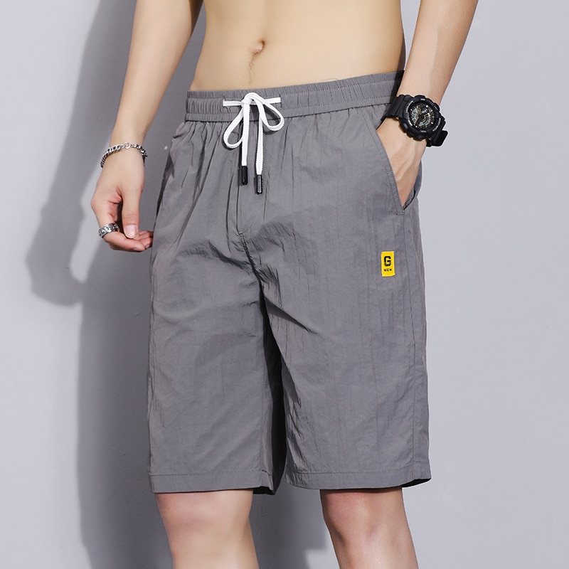 li ning men classical basketball shorts comfort breathable 100% polyester lining slim competition sports short trousers aapn015 2021 Summer Casual slim fit Shorts Men Loose Cropped Trousers Sports Shorts Loose Knit Straight Casual shorts Polyester  28-38