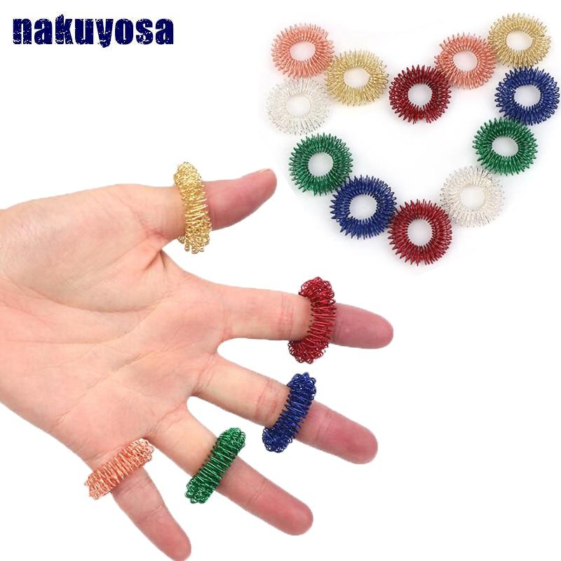 5 шт. остроконечное кольцо для чувствительных пальцев игрушка для детей и взрослых бесшумный Массажер для снятия стресса помогает с фокусом СДВГ аутизм