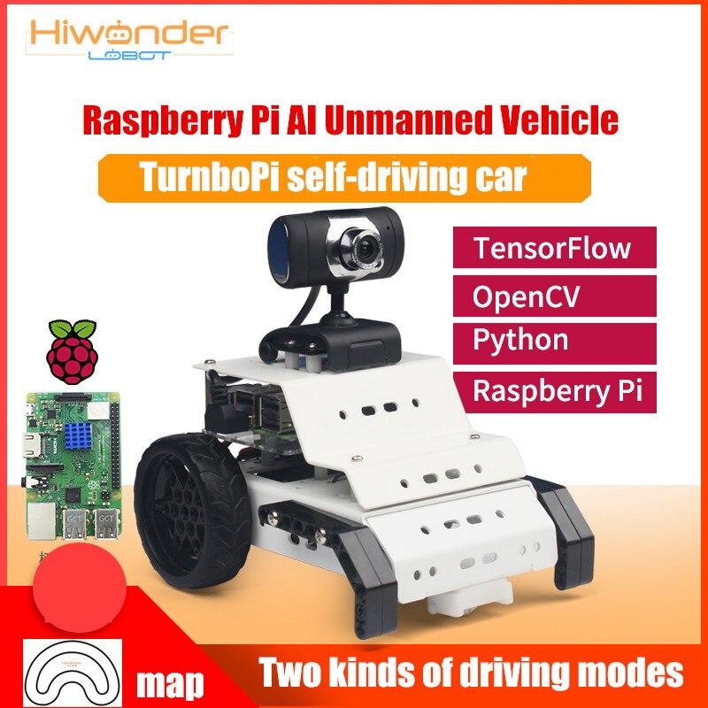 Hiwonder Lobot Raspberry Pi 4B/3B + vehículo no tripulado turvopi seguimiento Visual OpenCV/AI programación Robot coche inteligente
